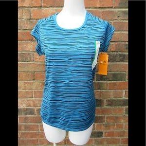 NEW CHAMPION Blue & Black Duo Dry Workout Shirt-M